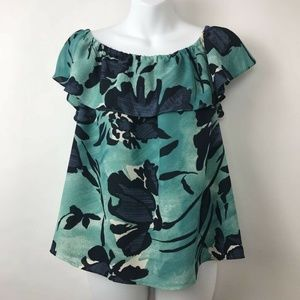 Anthropologie Maeve Off Shoulder Ruffle Blouse M